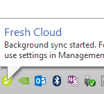 Fresh Cloud File Server - Team Client - Attach Local Folder Sync Notification