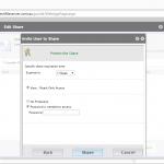 Fresh Cloud File Server - Web Portal - Share Files - Invite User to Share Non Guest User