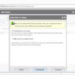 Fresh Cloud File Server - Web Portal - Share Files - Invite User to Share Type