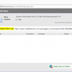 Fresh Cloud File Server - Web Portal - Share Files - Public Link